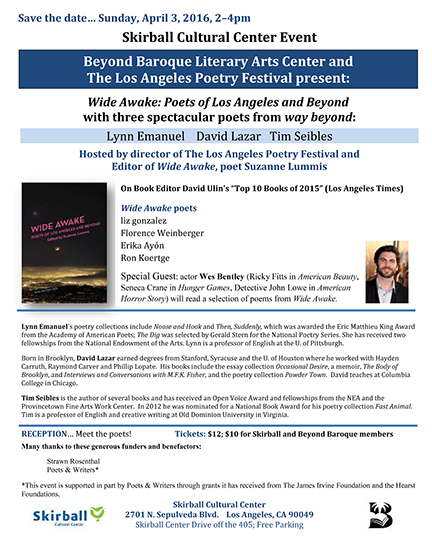 Skirball Flyer LA Poetry Event 2016