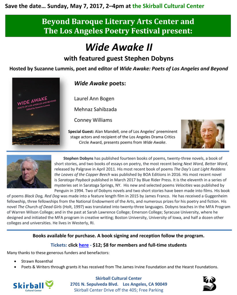 Wide Awake II at the Skirball 2017, Poetry Reading